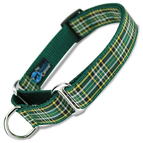 (The Artful Canine Martingale Dog Collar, Irish National Plaid, Small Dogs 11-22 lbs (Collar: 5/8 wide, 9