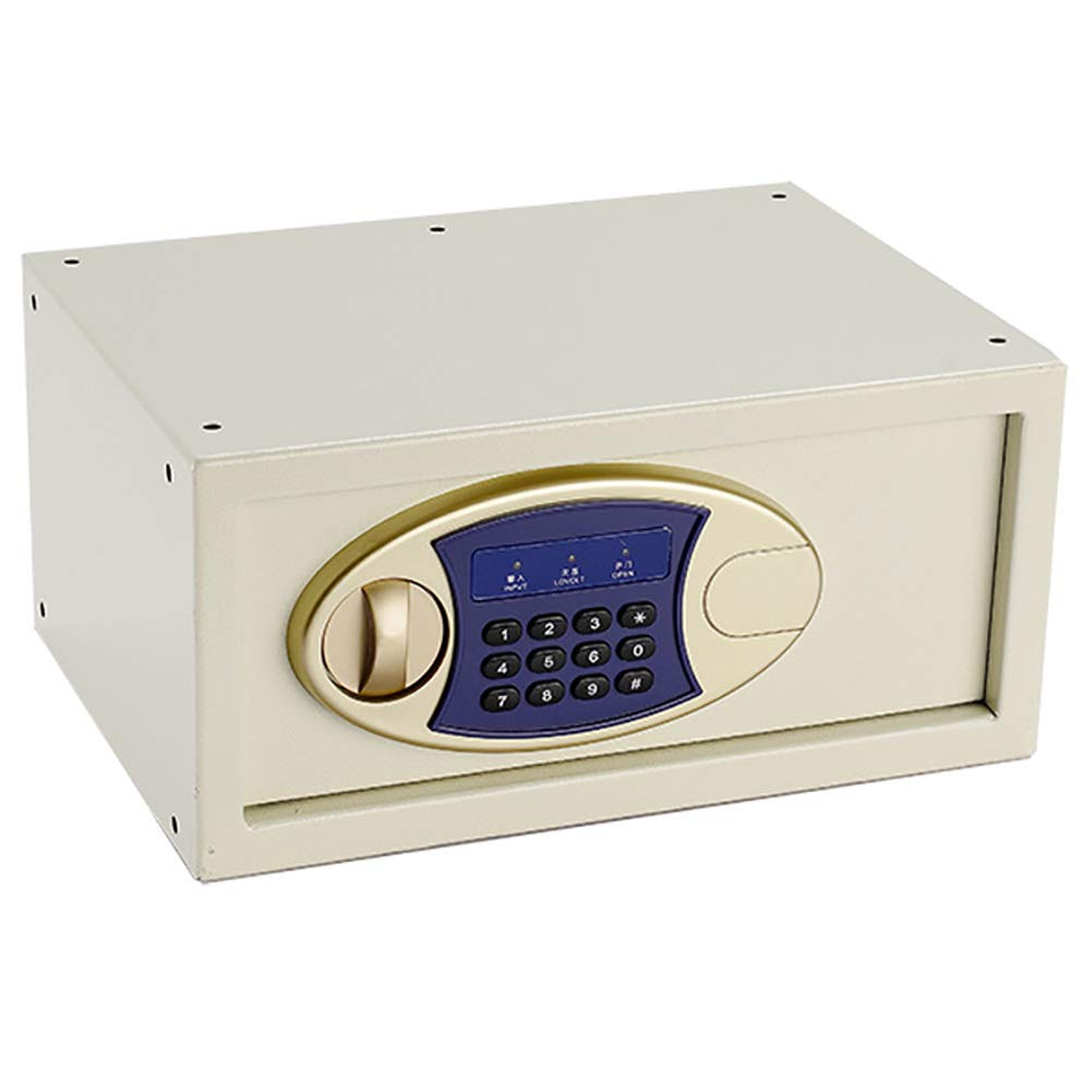 CHB Beige Single Door Small Wall Safe High Hardness Hotel Safe Bedside Safe Password Small Safe