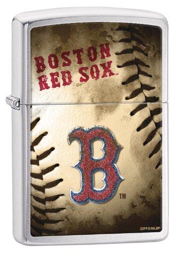(Zippo MLB Boston Red Sox Brushed Chrome)