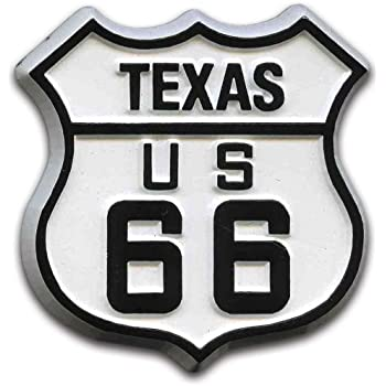 Route 66 Texas Road Sign Fridge Magnet