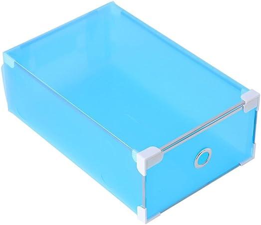 Vorcool - Caja de zapatos de plástico, cajón para zapatos, caja transparente de almacenamiento para zapatos, azul celeste, 31 x 20 x 11 cm: Amazon.es: Hogar