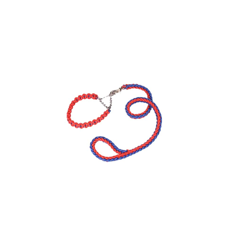 bluee red 3CM bluee red 3CM Dog Hyena Rope Collar Dog Chain P Chain Traction Rope