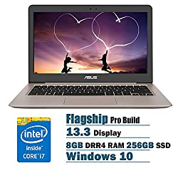 ASUS UX310UA ZenBook 13.3 Inch Full HD Laptop PC Flapship Edition Intel Core i7-6500U 8GB DRR4 256GB SSD Windows 10 Rubedo Gold