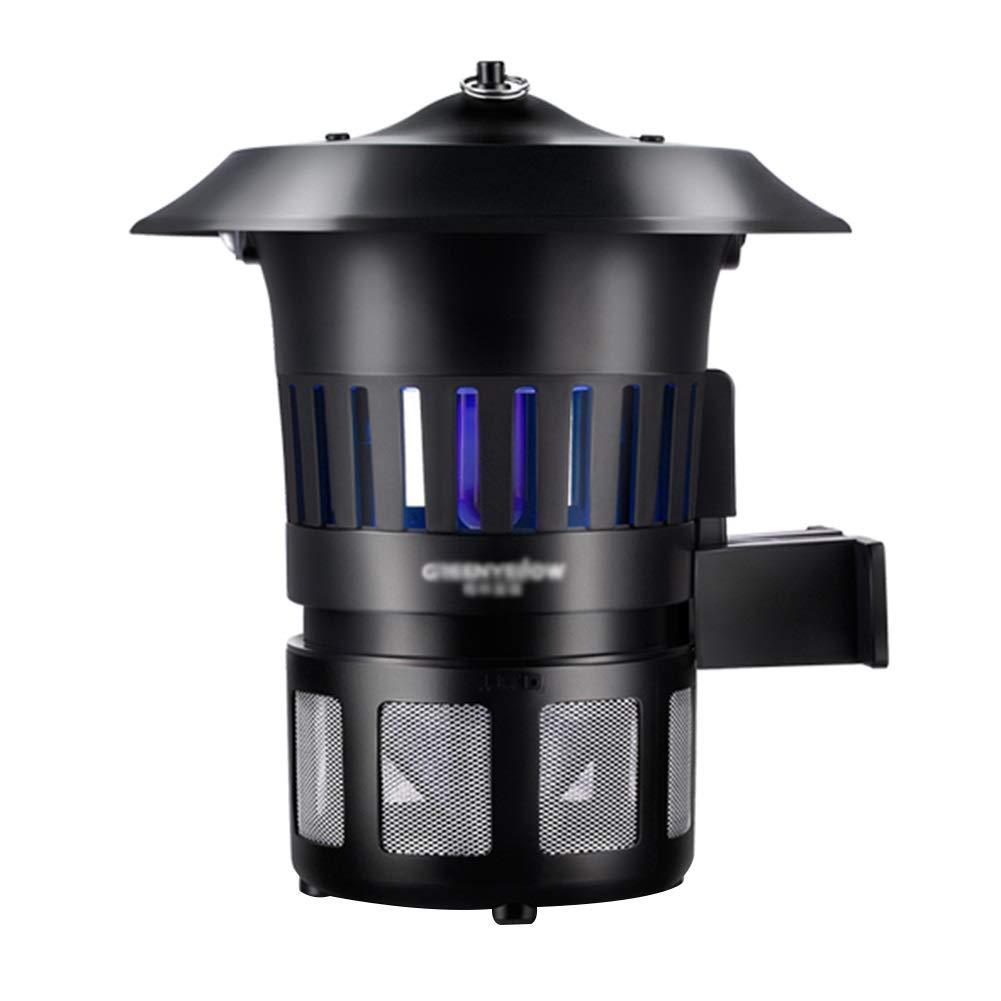 WUZMING 蚊ランプ電撃殺虫灯屋外のレインプルーフ掛けることができるUVランプ吸入蚊収納ボックスABS樹脂 (Color : Black, Size : 26x26x30cm) B07SHMCX5Z Black 26x26x30cm