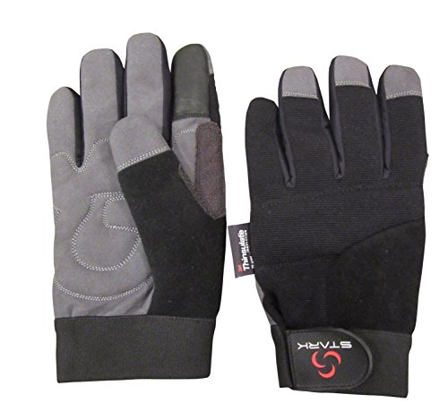Stark Winter Work Gloves - Skiing, Snowmobiling, Construction, Mechanic Gloves (Small, Black)