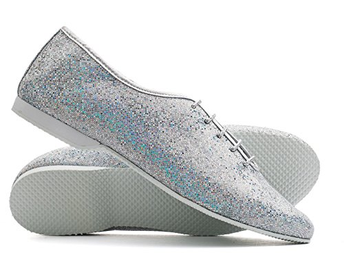 Katz Dancewear Silver Glitter full sole Jazz Dance Shoe Childs & Adults Sizes By yJV5ml1W