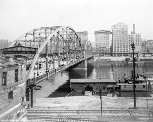 1900 Sixth Street Bridge Pittsburgh Pennsylvania Photo - Reprint 8x10 (Pittsburgh Photo)