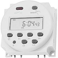 Timeromkopplare 12VDC 16A Digital elektronisk LCD-tidsreläomkopplare Programmerbar LCD Digital mikrodator Mini-kontroll…
