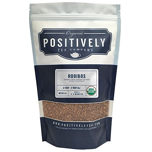 - Positively Tea Company, Organic South African Rooibos, Rooibos Tea, Loose Leaf, USDA Organic, 1 Pound Bag