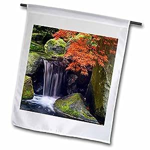 Danita Delimont - Japanese Gardens - USA, Oregon, Portland. Japanese Garden maple tree - US38 BJA0660 - Jaynes Gallery - 18 x 27 inch Garden Flag (fl_93675_2)