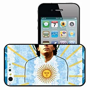 Personalized iPhone 4 4S Cell phone Case/Cover Skin Great Player Mexico Lionel Messi AC Milan Boca Juniors Football Black