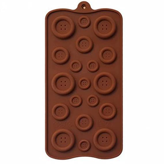 Amazon.com: Silicone Chocolate Mold, Cookies Mold, 3D Cute Button Shape Cake Decoration Tools, Moldes De Silicona Para Fondant, Kitchen Tools: Kitchen & ...