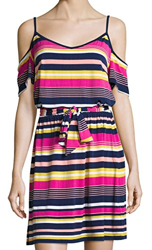 Shelli Segal Stripe - Laundry by Shelli Segal Women Medium Stripe Sheath Dress Pink M