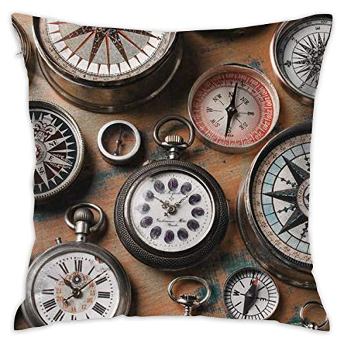 - Pocket Watch 16''x 16'' Square Throw Pillow Inserts with Pillow Covers Cushions for Couch Bedroom Car