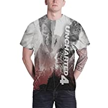 Uncharted 4 T Shirt Allover print new Official Mens sub dye