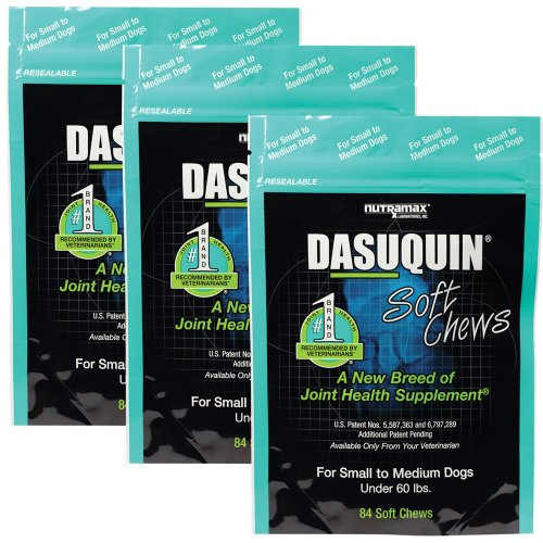 Dasuquin 3PACK Soft Chews for Small to Medium Dogs (252 Chews)