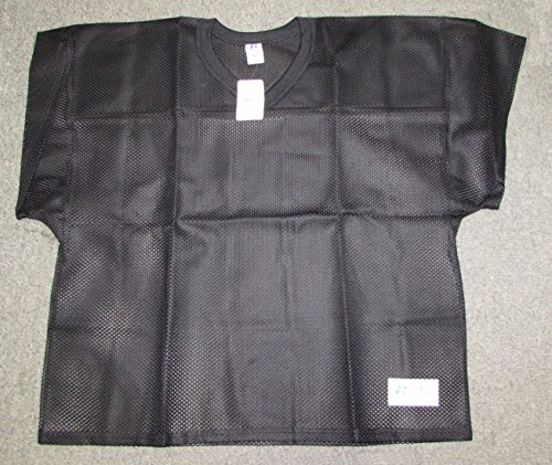 (New Russell Athletic Mesh Black Football Jersey Blank Practice Size XL)