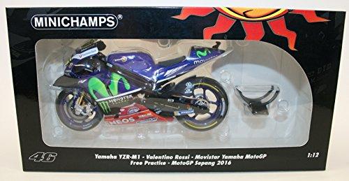 Minichamps 310.294.898,8 cm Yamaha yzr-m1 Monster Yamaha Valentino Rossi Kostenloser Praxis Sepang 5.120,6 cm Druckguss Modell, Maßstab  1  12
