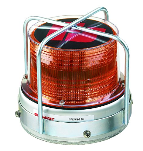 Federal Signal 420222-02 651 LED Utility Beacon, Class 2, Permanent Mount with Branch Guard and Amber Dome