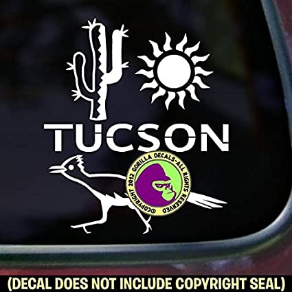 The gorilla farm tucson city arizona vinyl decal sticker car window bumper wall laptop sign white