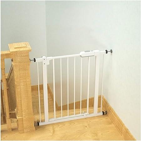 WHAIYAO Bebé Puerta De La Escalera Barrera Valla De Seguridad for Niños Puertas Extra Anchas Montaje En Pared Sistema De Doble Bloqueo Kit De Extensión Barandilla De Balcón Ancho Ajustable, 2 Colores: