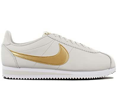 a48b240b0946e3 ... canada nike classic cortez leather womens casual shoes 8 us light bone metallic  gold 0bb7a ee2f9