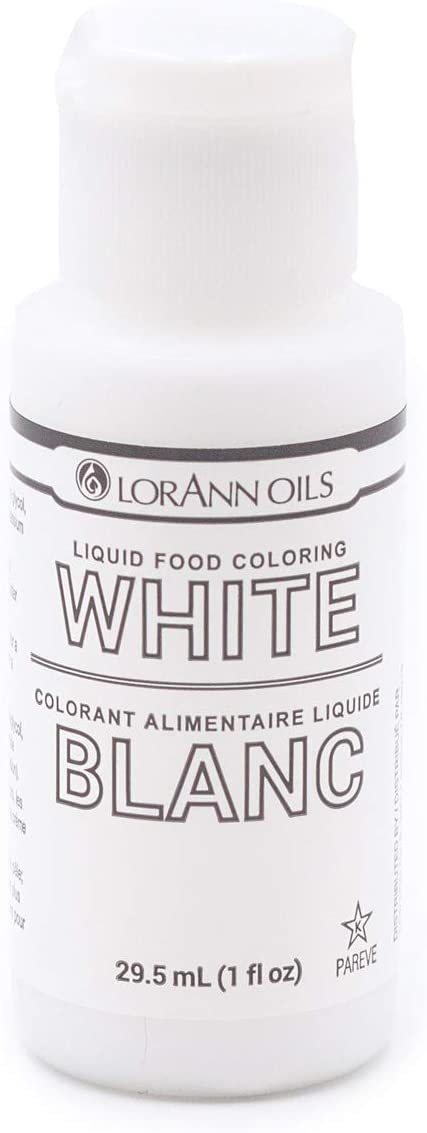 LorAnn White Liquid Food Color, 1 ounce squeeze bottle