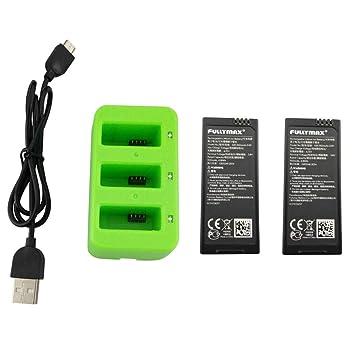 Elaco - 2 baterías de litio de 3,8 V y 1100 mAh + cargador para ...