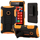 NOKIA Lumia 520 Case, CellJoy® [Future Armor] (Orange) Nokia 520 Hybrid Cases Full Body Dual Protective Cover [Heavy Duty] Kickstand Case »» Shock-proof «« [Belt Clip Holster Combo] - Robot Case