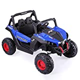 JAXPETY Blue Jeep 12V Kids Ride on Car Battery Powered Electric W/2.4G Remote Control SUV Music ¡­