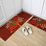HOMEE Carpet Door Mat Hall Foot Pad Kitchen Toilet Water Absorption of Dust Non-Slippery Floors Pad,E,5080+45120Cm