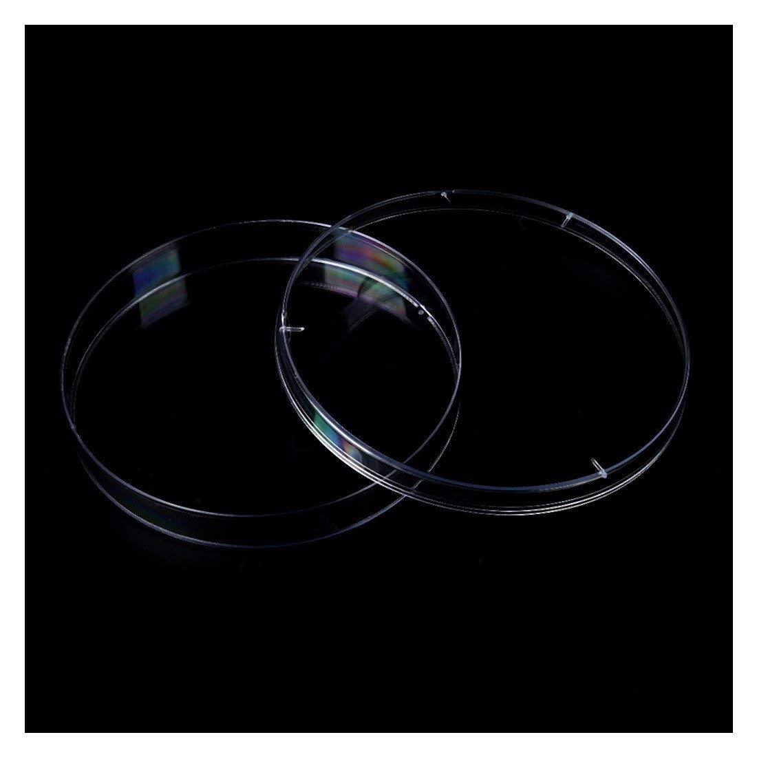 Ogquaton Platos de Petri de pl/ástico est/éril de calidad superior 10PCS PLACAS de levadura bacteriana 90x15mm