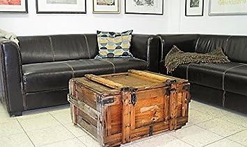 Shabby Chic Vintage Holzkiste Weinkiste Wohnen Kiste Tisch Couchtisch Bar Deko