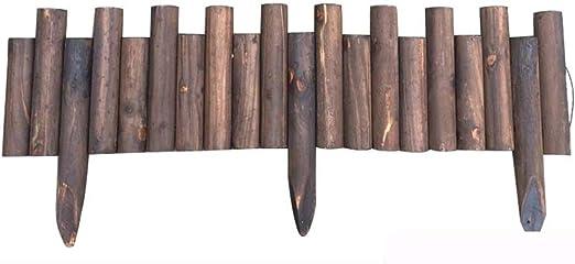 ZENGAI-vallas de Madera Valla for Exteriores Bordo Madera Valla Fácil de Instalar Madera Maciza Jardín Césped Al Aire Libre De Pie/Enchufable 2 Estilos (Color : B, Size : H25/30CM): Amazon.es: Jardín