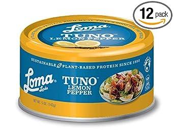 Loma Linda Tuno Plant-Based Lemon Pepper (5 oz.) (Pack of 12)