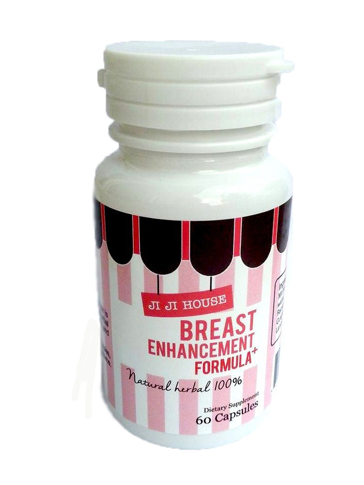 JiJi House Bust Enhancement for Women Natural Herbal 60 Capsules Breast Enlargement by JiJiHouse