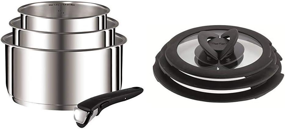 Set of 4 Tefal Ingenio Saucepan Set Stainless Steel