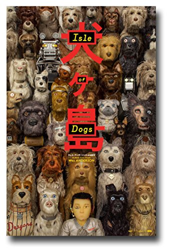 Isle of Dogs Poster Movie Promo Wes Anderson 11 x 17 inches Faces