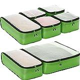 eBags Ultralight Packing Cubes - Ultimate Packer 7pc Set (Green)