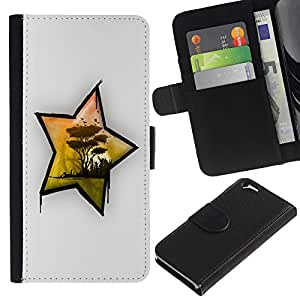 Planetar® Modelo colorido cuero carpeta tirón caso cubierta piel Holster Funda protección Para Apple (4.7 inches!!!) iPhone 6 ( Africa Star )