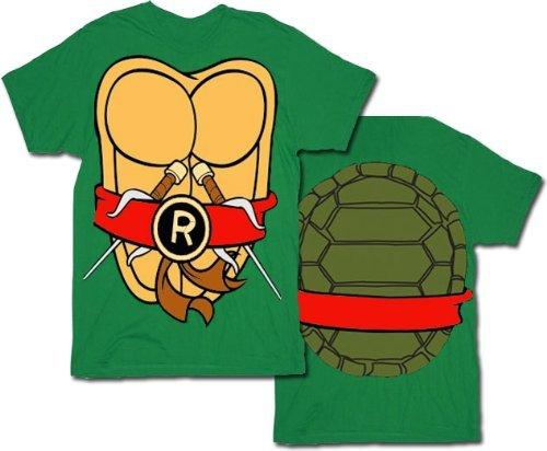 Teenage Mutant Ninja Turtles Men's Costume T-Shirt - Raphael (Large) (Ninja Turtles Halloween Costumes)