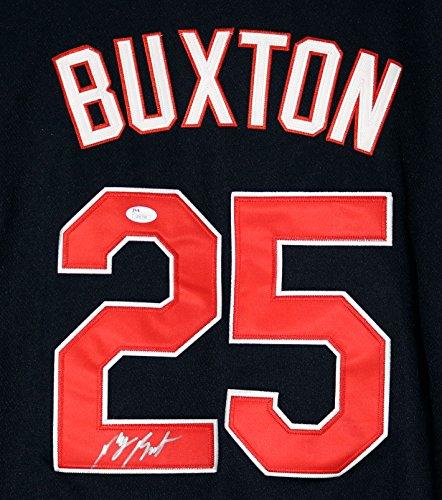 Byron Buxton Minnesota Twins Signed Autographed Blue #25 Jersey JSA - Twins Autographed Minnesota Jerseys