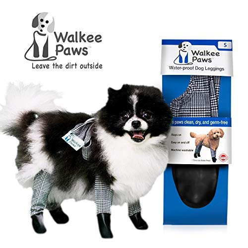 Walkee Paws Waterproof Dog Leggings - Keep Your Dog's' Clean & Dry Without The Hassle of Boots - Classic Checkered Color (Small)