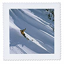 qs_94757_10 Danita Delimont - Snowboarding - Snowboarding, Big Cottonwood, Wasatch-Cache NF, Utah - US45 HGA0072 - Howie Garber - Quilt Squares - 25x25 inch quilt square