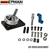 EPMAN ALUMINUM RACING SHORT THROW SHIFTER FOR 83-04 FORD MUSTANG T5 T-45 W/OD BLACK EP-PDG5305FORDT