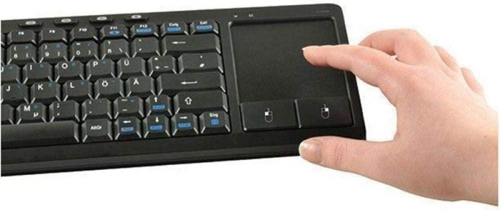 Vivanco 33928 Teclado Inalámbrico con Touchpad, Compatible con Smart TV, Teclas Multimedia: Amazon.es: Informática