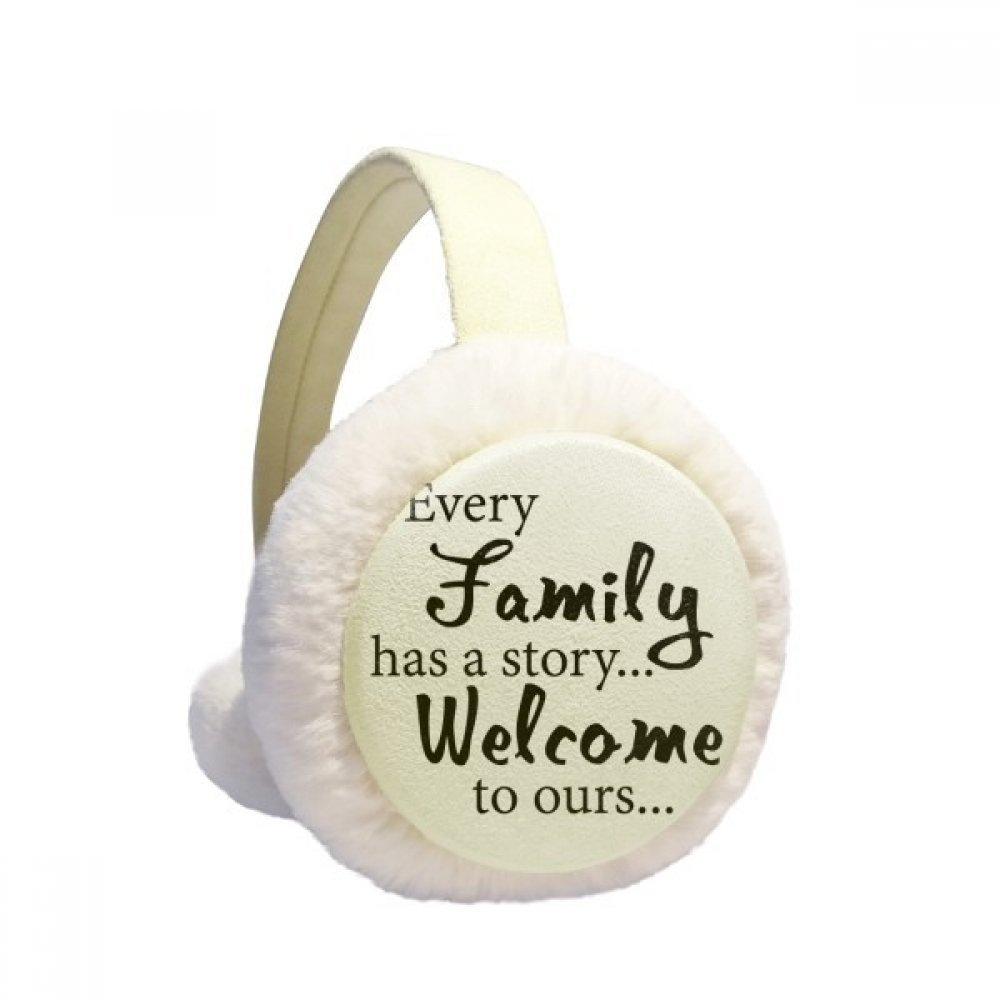 Family Story Quote Winter Earmuffs Ear Warmers Faux Fur Foldable Plush Outdoor Gift