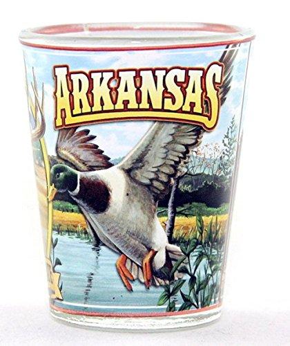 Arkansas Shot Glass - Arkansas State Mural Shot Glass jks