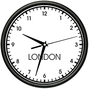 Amazoncom LONDON TIME Wall Clock world time zone clock office