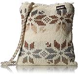 Muk Luks Women's Snowflake Bag, Ivory, One Size